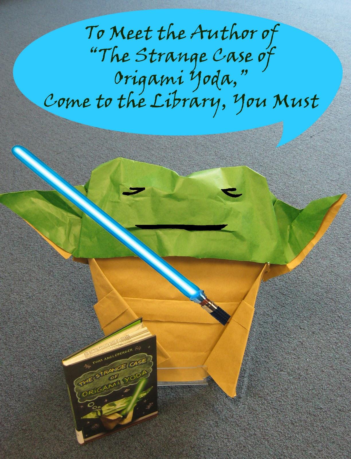 The Strange Case of Origami Yoda by Tom Angleberger - YouTube | 1600x1225