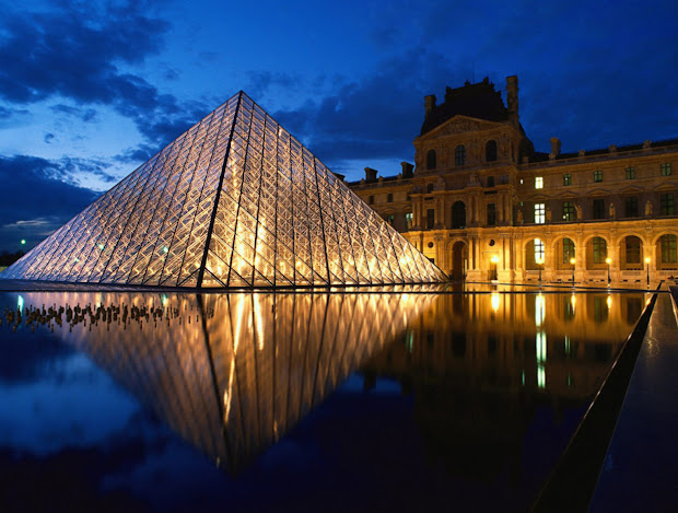 Tourism Travel Guide City Information. Louvre Museum In France