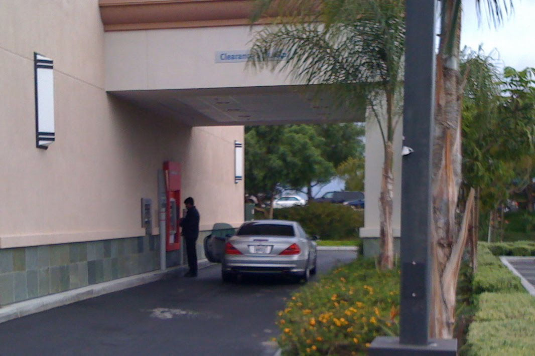Image result for car door open at bank drive thru atm