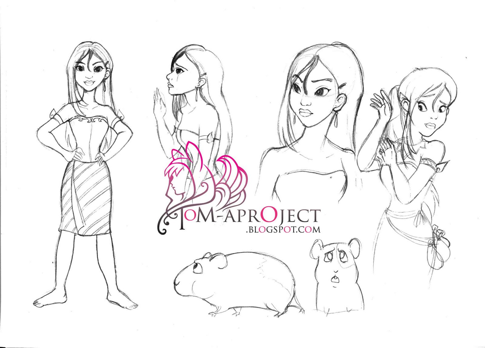 Disney Character Design SketchesDisney Character Design