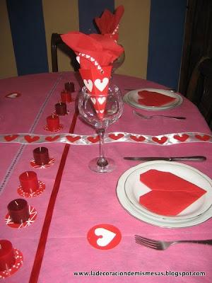 Decorar la mesa de san valent n for Decorar mesa san valentin