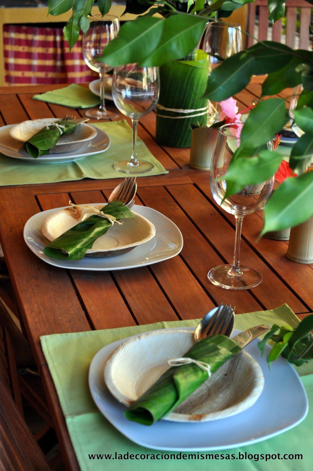 Decorar la mesa en verano