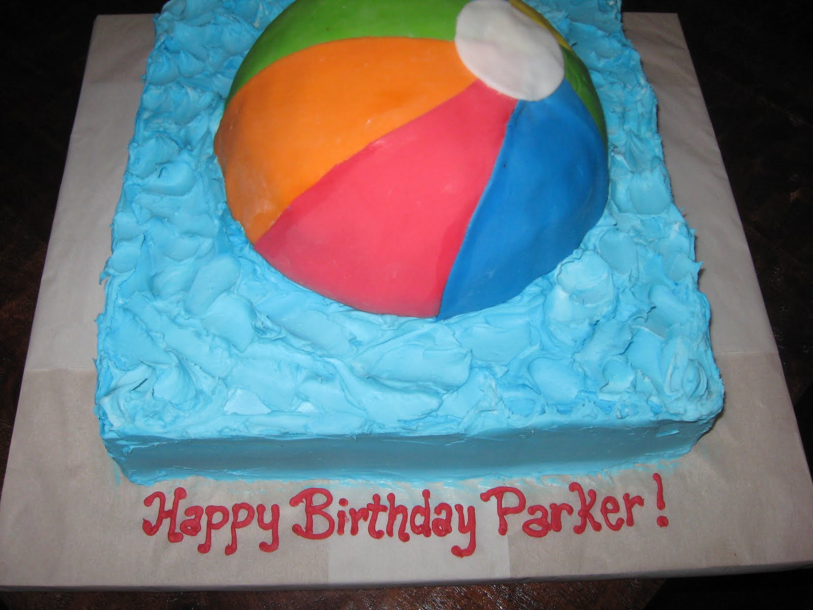 the sweet design: Beach Ball Cake