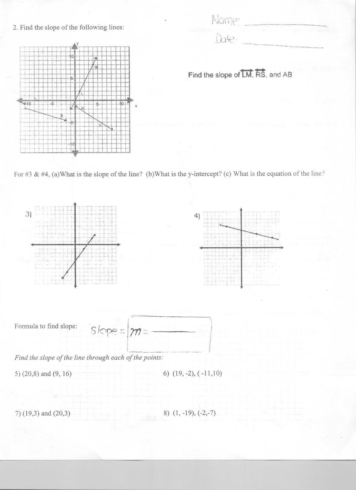 Mr. Napoli's Algebra: March 2012