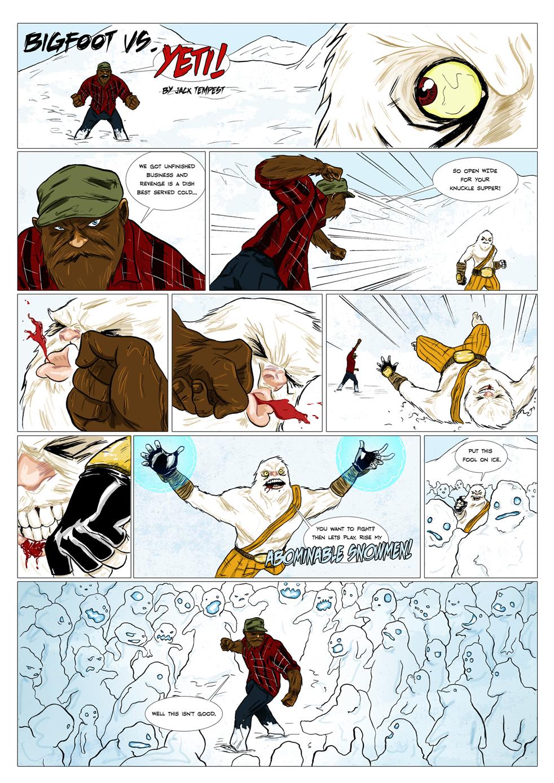 thesupervillain: Bigfoot Vs. Yeti!