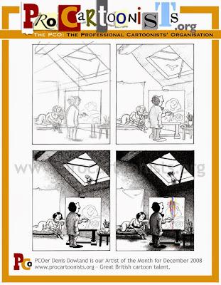 Bloghorn, Denis Dowland cartoon, UK cartoonist, Professional Cartoonists' Organisation