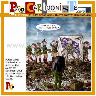 Demis Dowland cartoon @ The Bloghorn for the professional cartoonists' Organisation