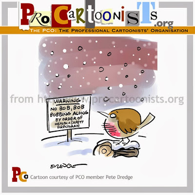 Bloghorn Christmas card 2008 from the UK Professional Cartoonists' Organisation