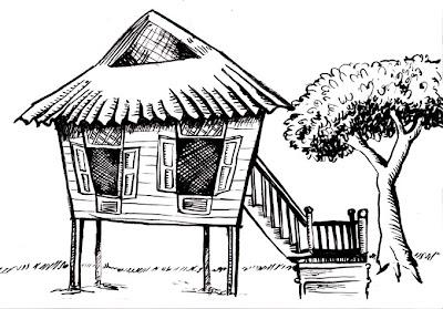 Brown Rice: Sketch #10 - Nipa Hut
