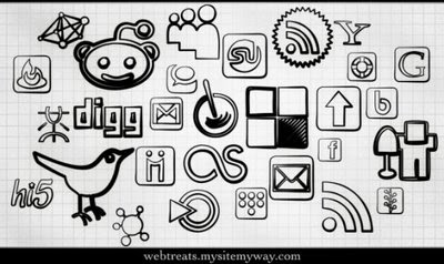 Black Magic Marker Social Icons