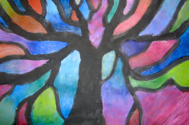 Art Basic- Teacher Mondrian Trees