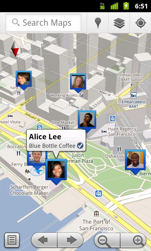 Check-ins dans Google Latitude : faites savoir à vos amis s'ils peuvent vous rejoindre dans le bar du coin, ou si vous êtes à l'autre bout du monde dans un restaurant !