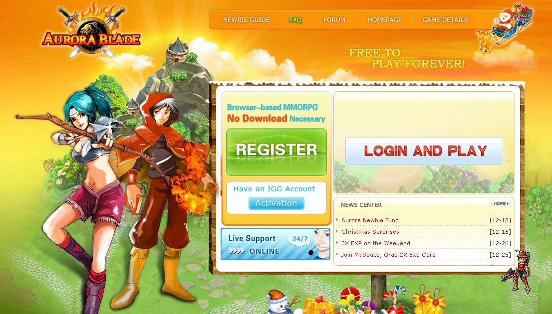 Mint Luv Chocolate: Aurora Blade - Free Browser-Based MMORPG