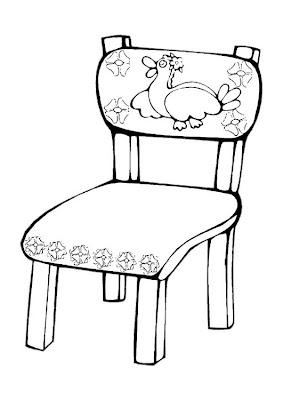 Colorir E Divertido Cadeira Decorada Para Pintar Desenhos De