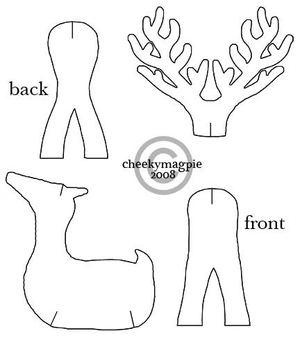 Reindeer wood cutouts plans for Reindeer cut out template