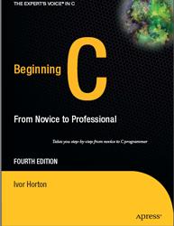 ebook de C: beginning C From Novice to professional