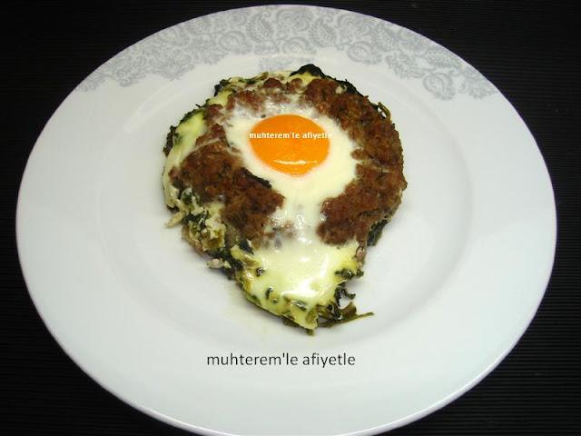 yumurtalı ıspanak yemeği tarifi