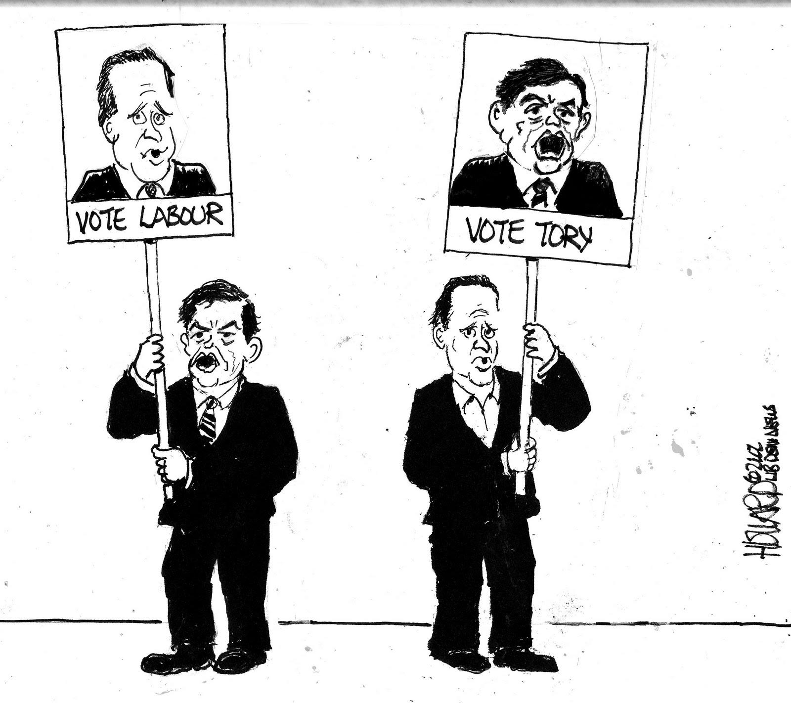Liberal England Cartoon Labservative Leaders