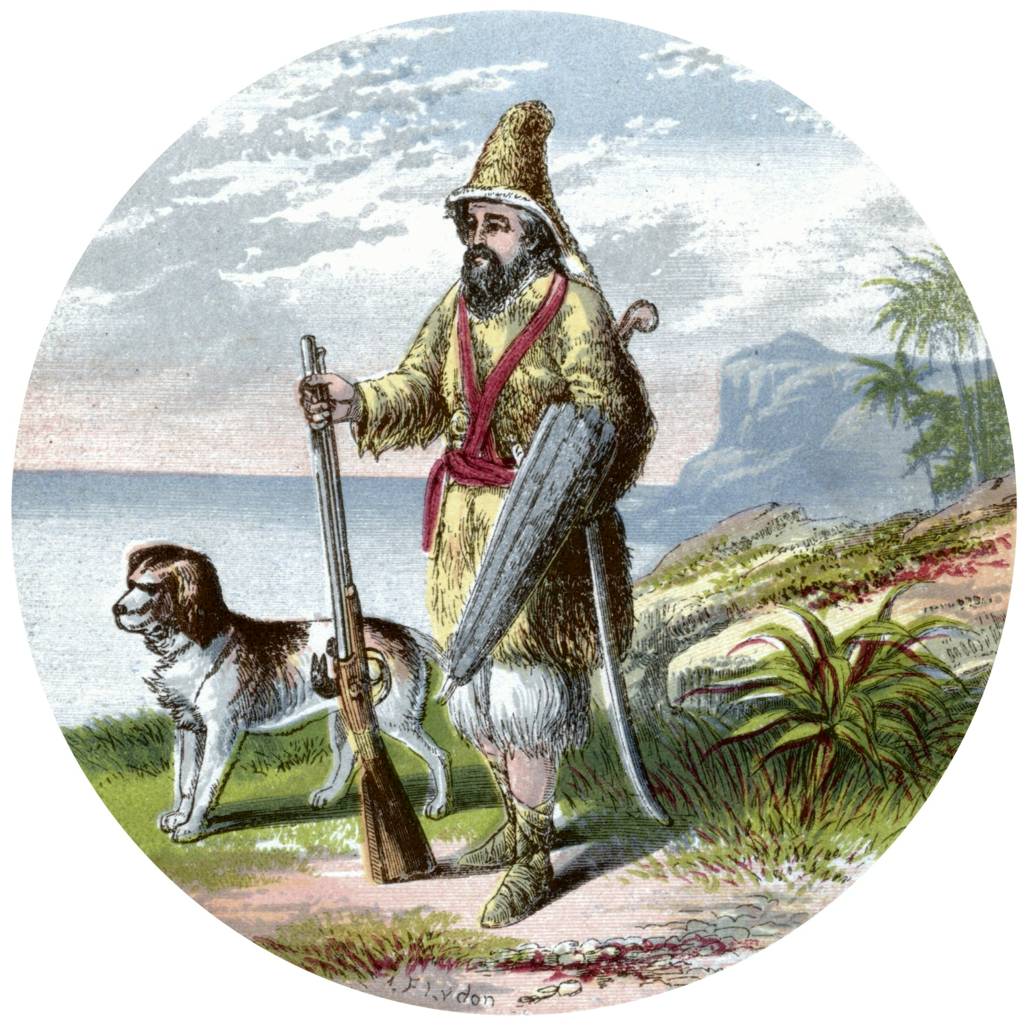 Robinson Crusoe Old Books And Images Robinson Crusoe 1865