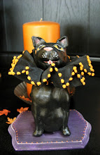 Black Cat, clay sculpture