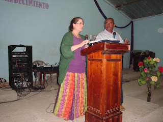 International Mission Trip Honduras - Traci Morin Sharing the gospel of Jesus Christ to the people.