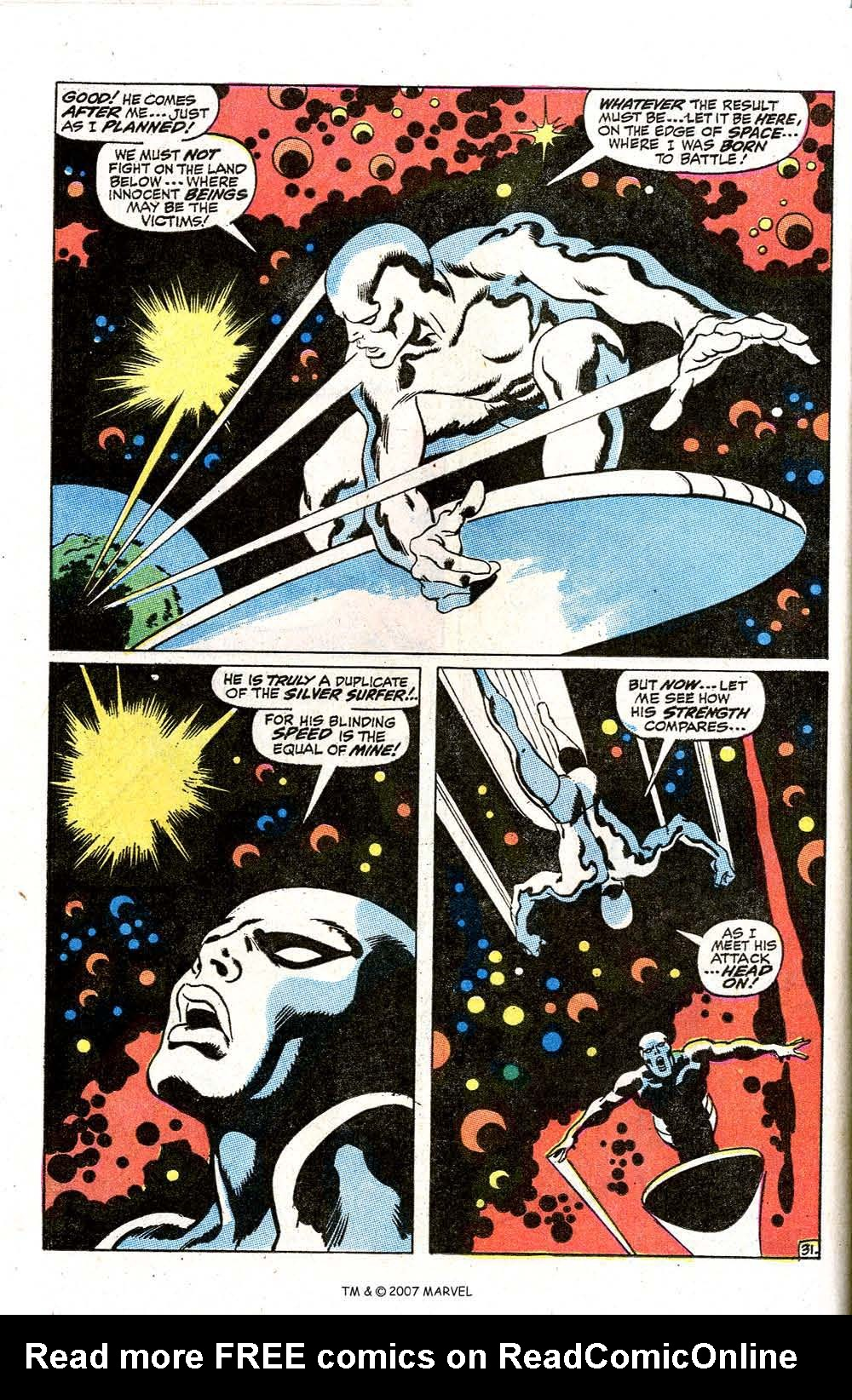 Read online Silver Surfer (1968) comic -  Issue #7 - 38
