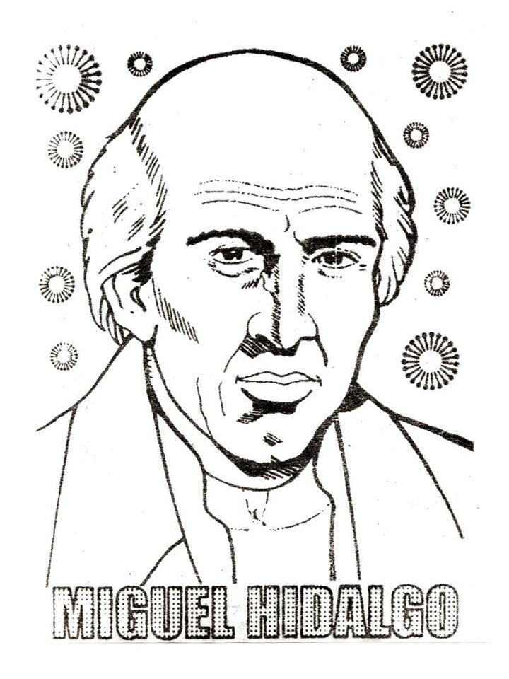 Dibuja Y Colorea A Miguel Hidalgo Imagui