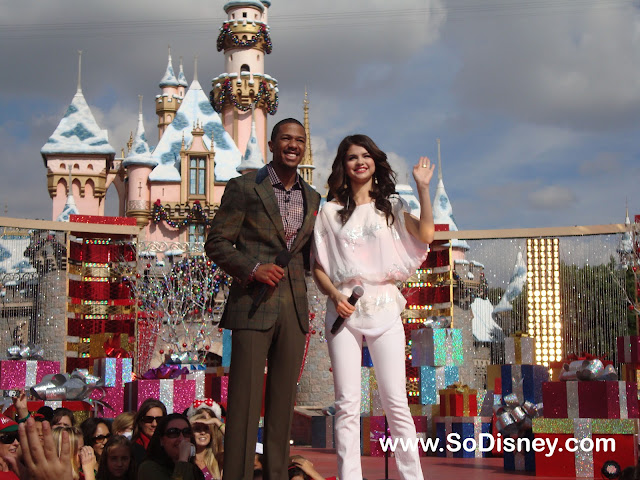 Selena Gomez & Nick Cannon at Disneyland- Disney Parks Christmas Day Parade Taping 2010