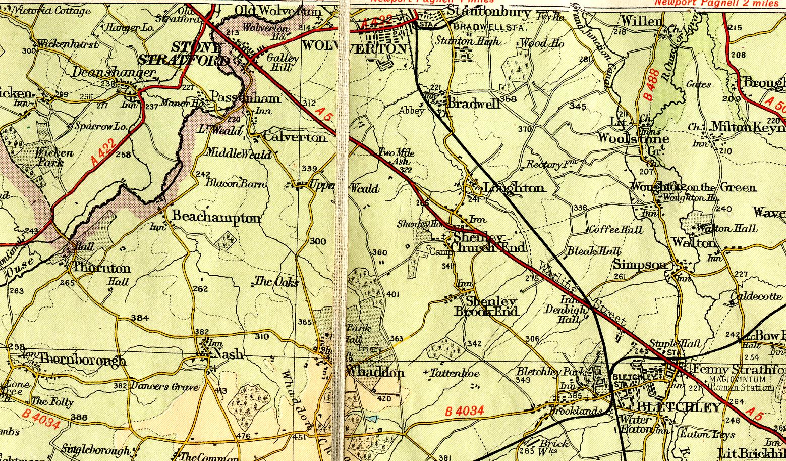 Bartholemew Maps Wolverton Past History before 1970