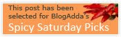 This post has been selected for BloragAdda's Spicy Saturday Picks