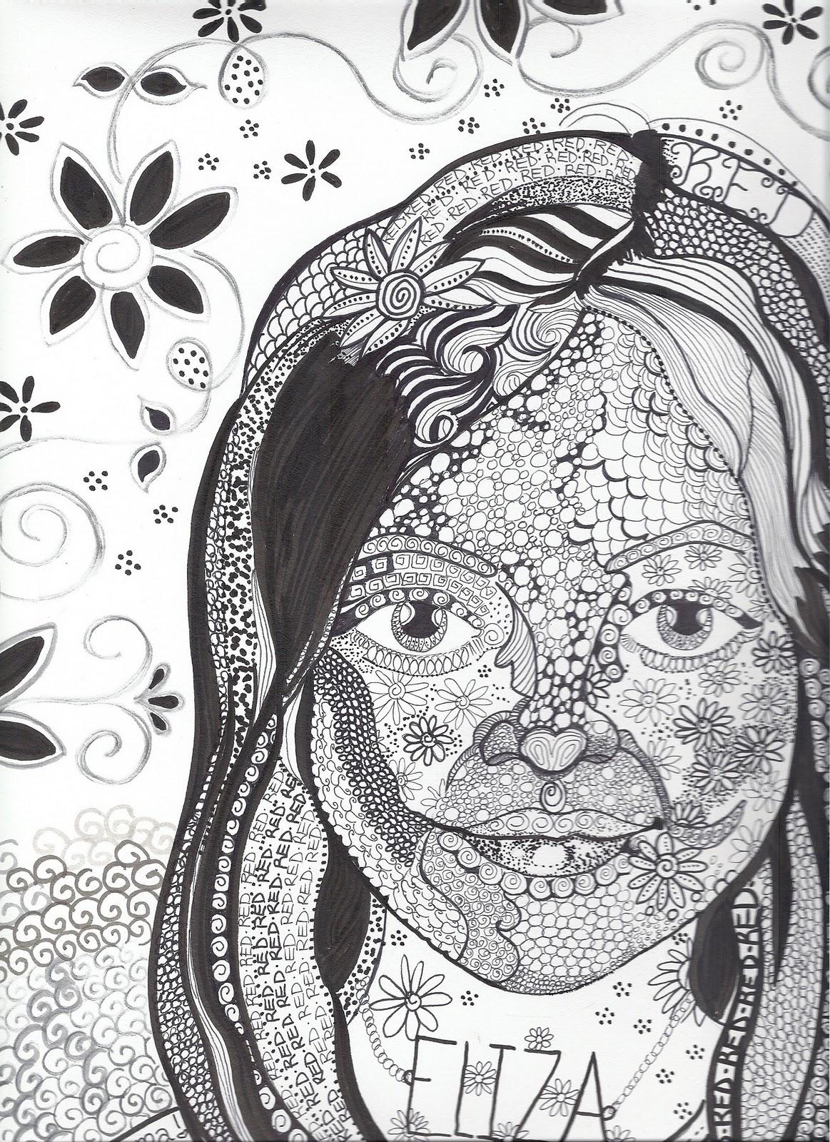 Serendipity Art New Zen Doodle Portrait