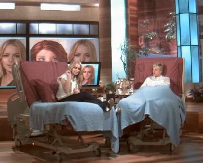Lindsay and Ellen in bed together...