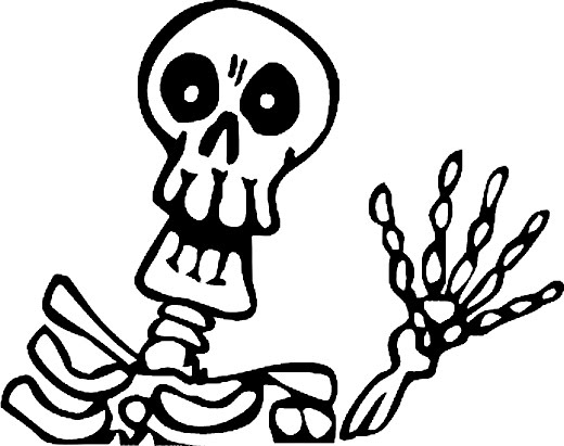 halloween coloring pages: Halloween Skeleton Coloring