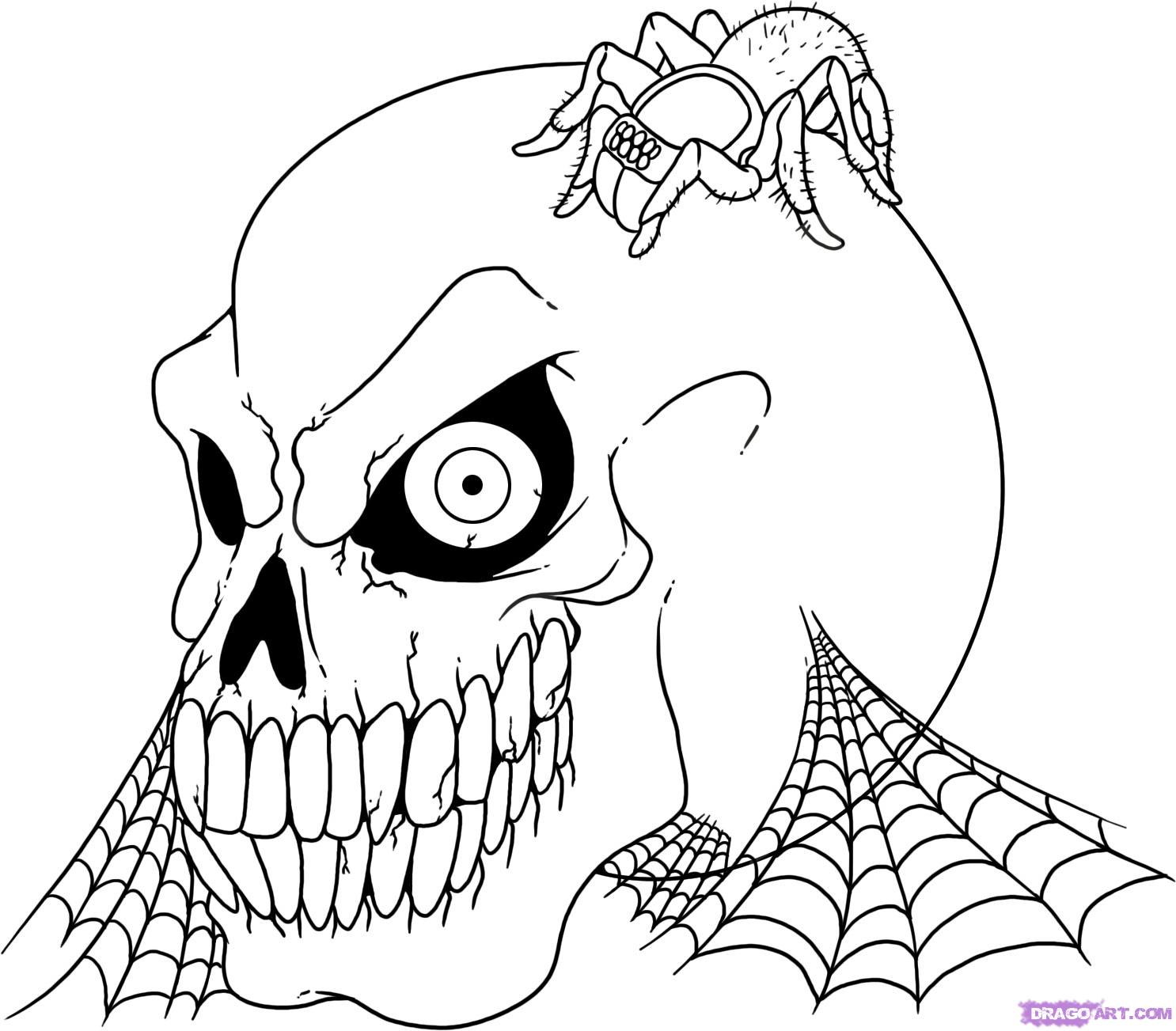 Halloween Skeleton Coloring Pages, Free Skeleton Printables