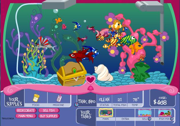 Bienvenue dans notre aquarium un super jeu gratuit - Jeux de poisson rouge gratuit ...