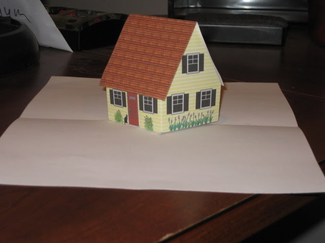 Victoria Norman Home Cottage Pop Up Card