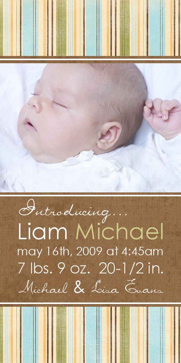 Bear River Photo Greetings Bouncing Baby Boy Adoption and Birth
