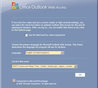 Setting default language & time zone for all OWA 2007 users    -