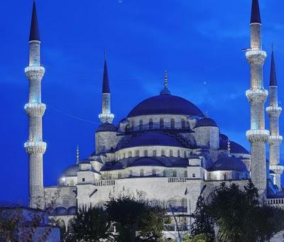 91 Gambar Gambar Masjid Warna Biru Terlihat Cantik