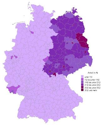 kart øst tyskland Frp koden: Tysk valgquiz kart øst tyskland