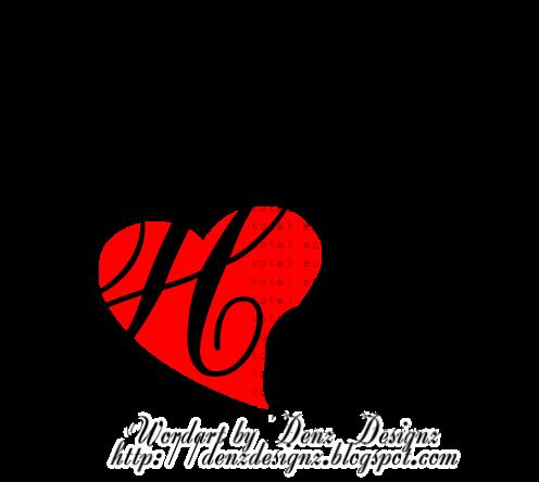 Image Gallery heart word art