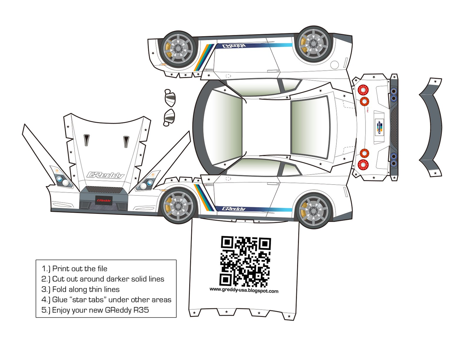 Welcome to the official GReddy USA blog: GReddy Paper Craft 2