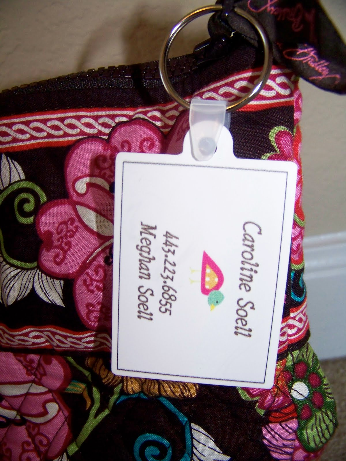 Paper Etiquette Custom Diaper Bag Name Tags Amp Key Chains