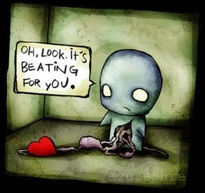 Look! My heart is beating for you!