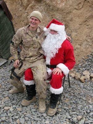 Santa paid a visit to Afganistan