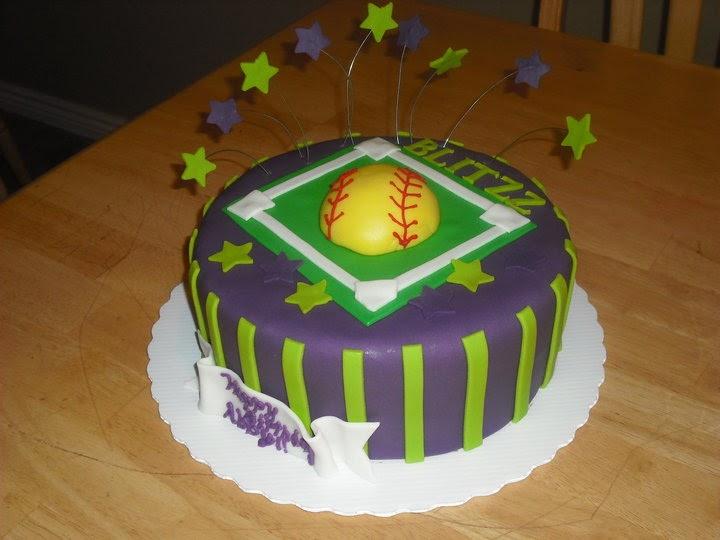 Sprinklebelle Cakes Softball Cake