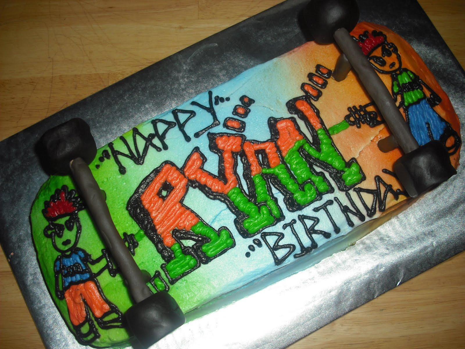 Sprinklebelle Skateboard Cake