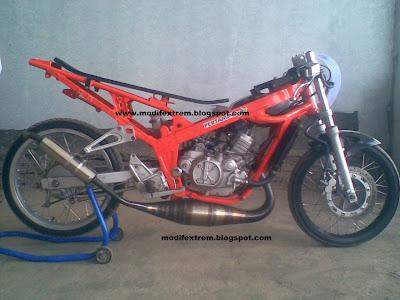 Gambar Modifikasi Kawasaki Ninja R Drag Race