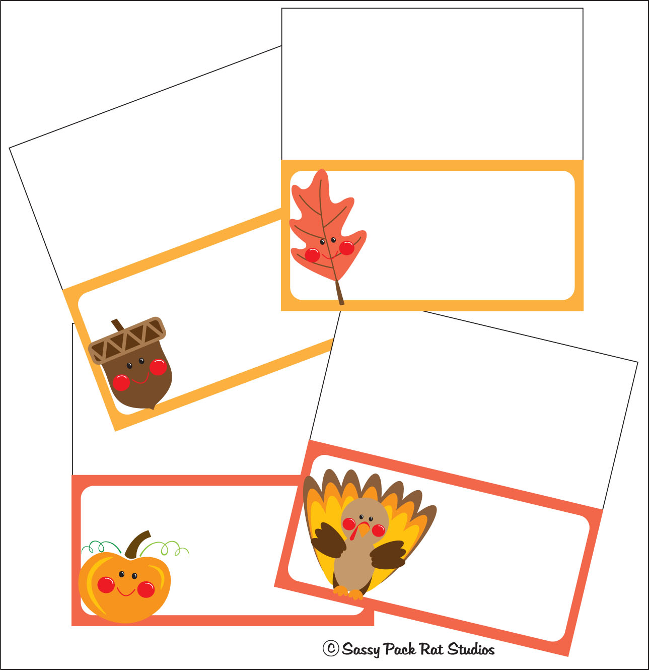 image relating to Thanksgiving Place Cards Printable identify The Sy Pack Rat: Thanksgiving Area Card Printable Freebie