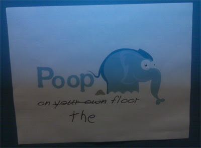 Poop on your own floor